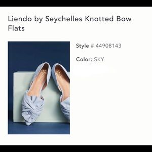 Liendo by Seychelles Knotted Bow Flats (sky) - 8